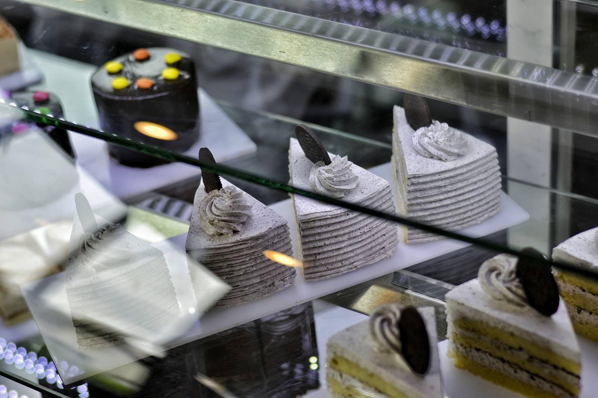Several Cake Slices