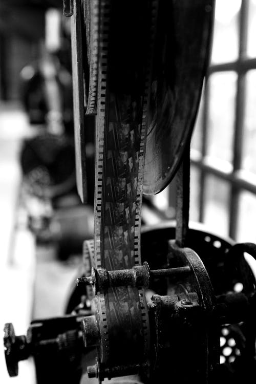 Black and White Photo of Bicycle Wheel
