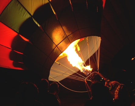 Free stock photo of dawn, fire, balloon, hot air balloon