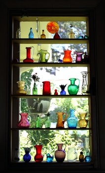 Free stock photo of glass, vintage, jars, stained glass