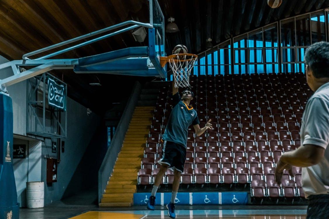bóng rổ, chơi, đàn ông