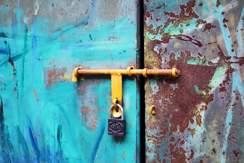 Free stock photo of close, color, door, lock