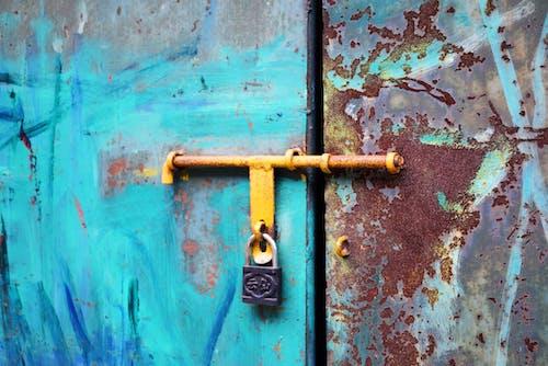 Immagine gratuita di arrugginito, cassetta di sicurezza, chiudere, colore