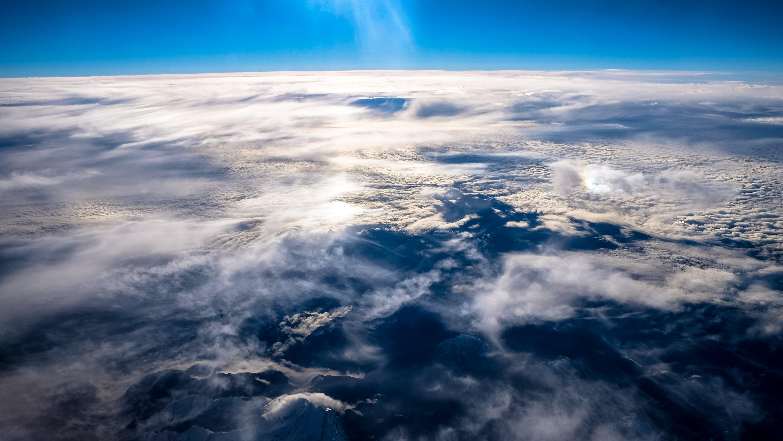 clouds, cloudscape, sea of clouds
