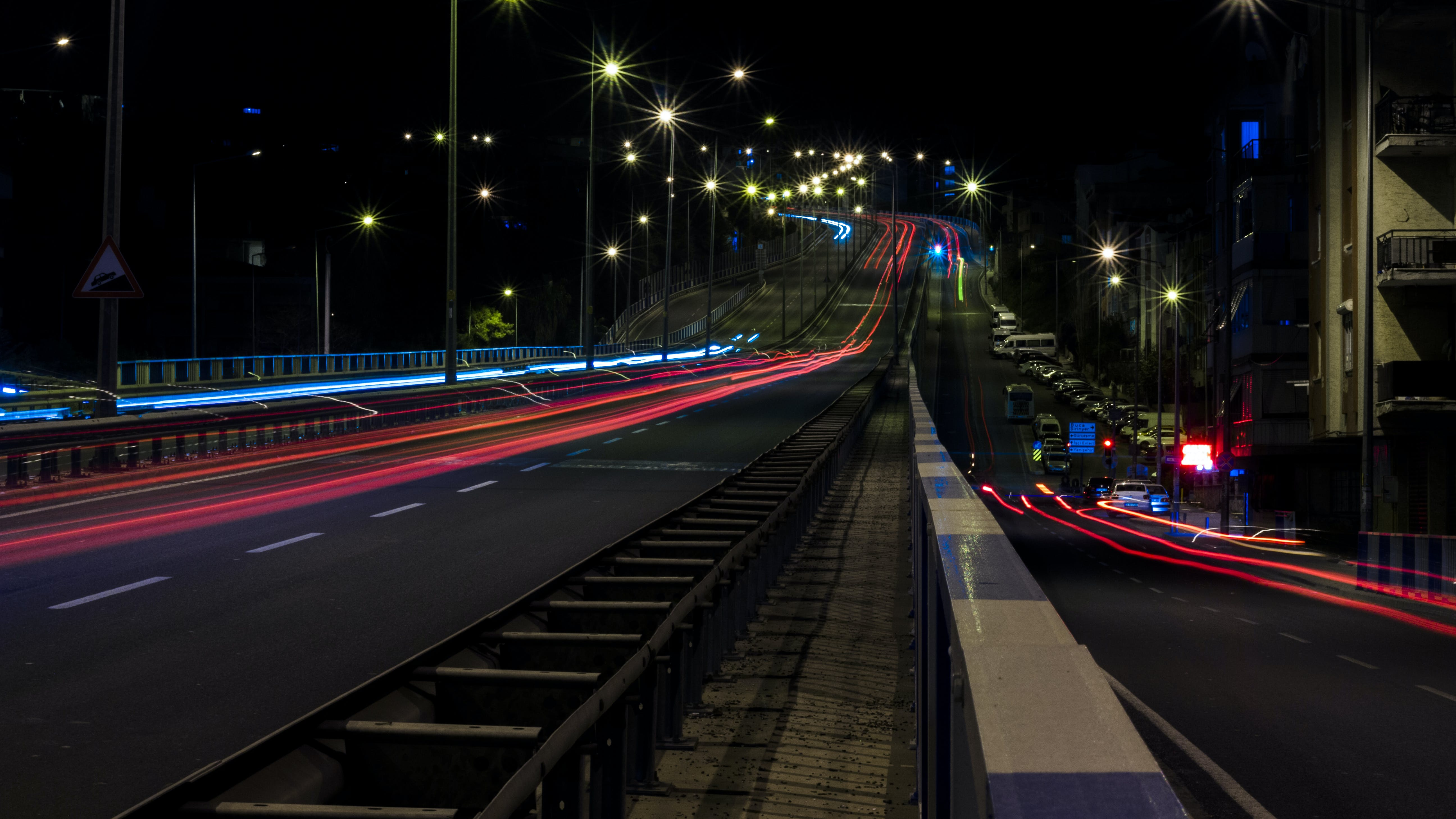 Time Lapse Photo of Road With Cars Passing