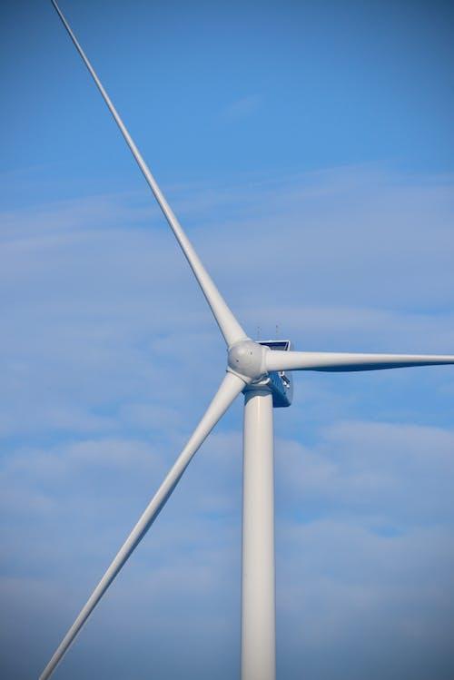 Ilmainen kuvapankkikuva tunnisteilla ekologinen energia, energia, sininen taivas, Tuuli