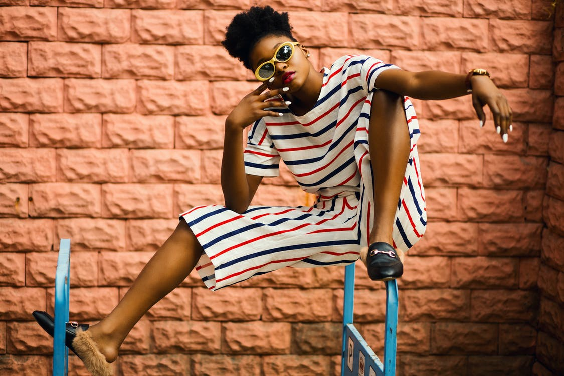 афро-американка, городской, девочка