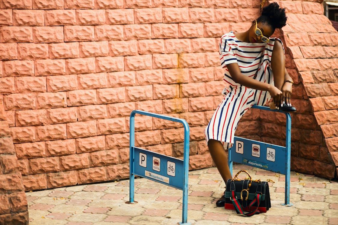afrikansk amerikan kvinna, dagtid, flicka