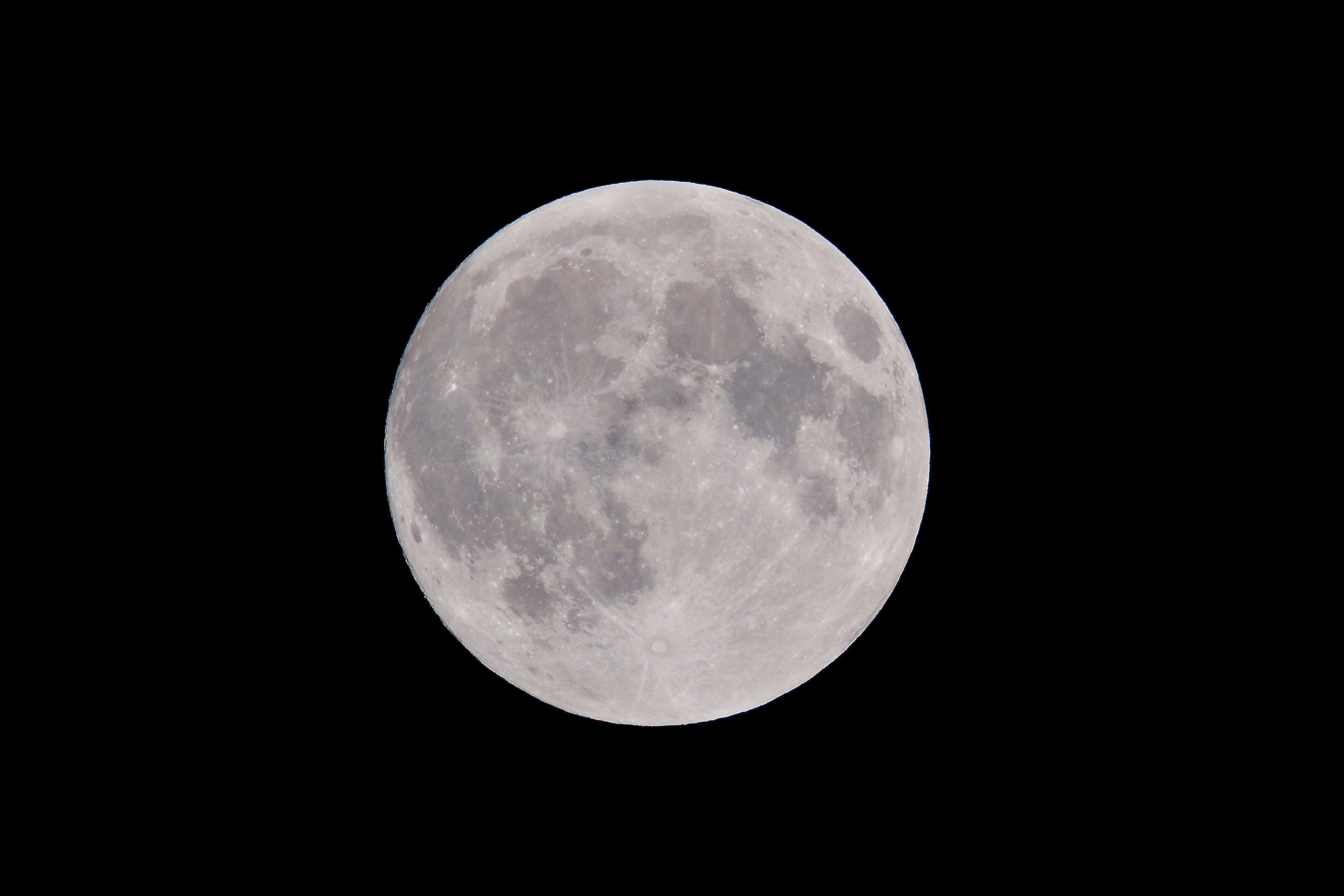 Gratis arkivbilde med astronomi, fullmåne, luna, lunar