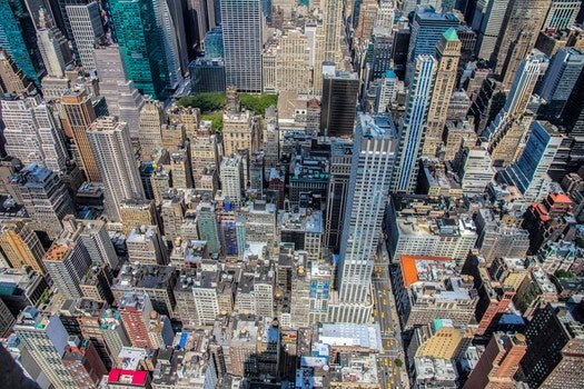 Free stock photo of city, bird's eye view, buildings, skyscrapers
