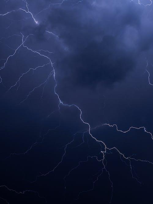 Lightnings during thunderstorm