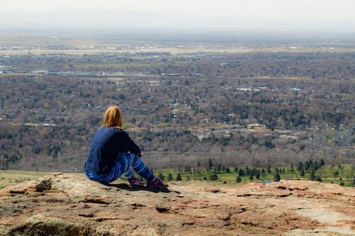 人, 女の子, 女性, 山の無料の写真素材