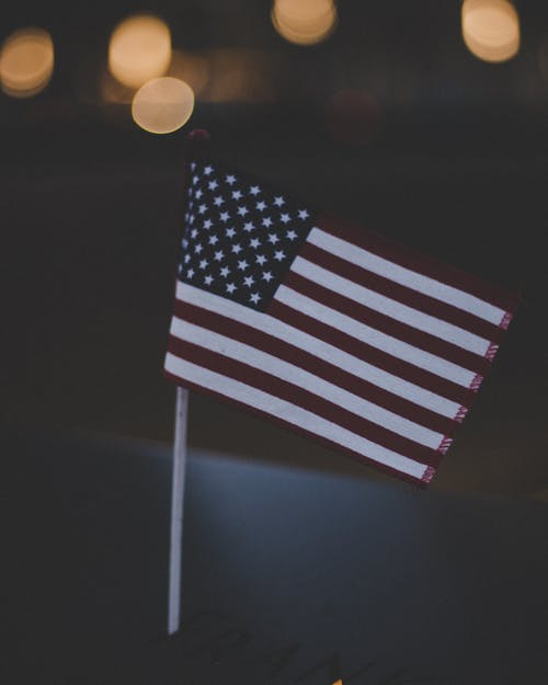 Bokeh Photography Flag of U.s.a.