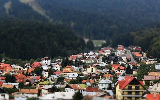 Free stock photo of village, valley