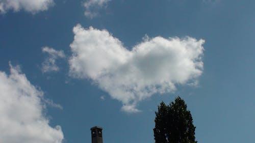 corazon, nubes içeren Ücretsiz stok fotoğraf