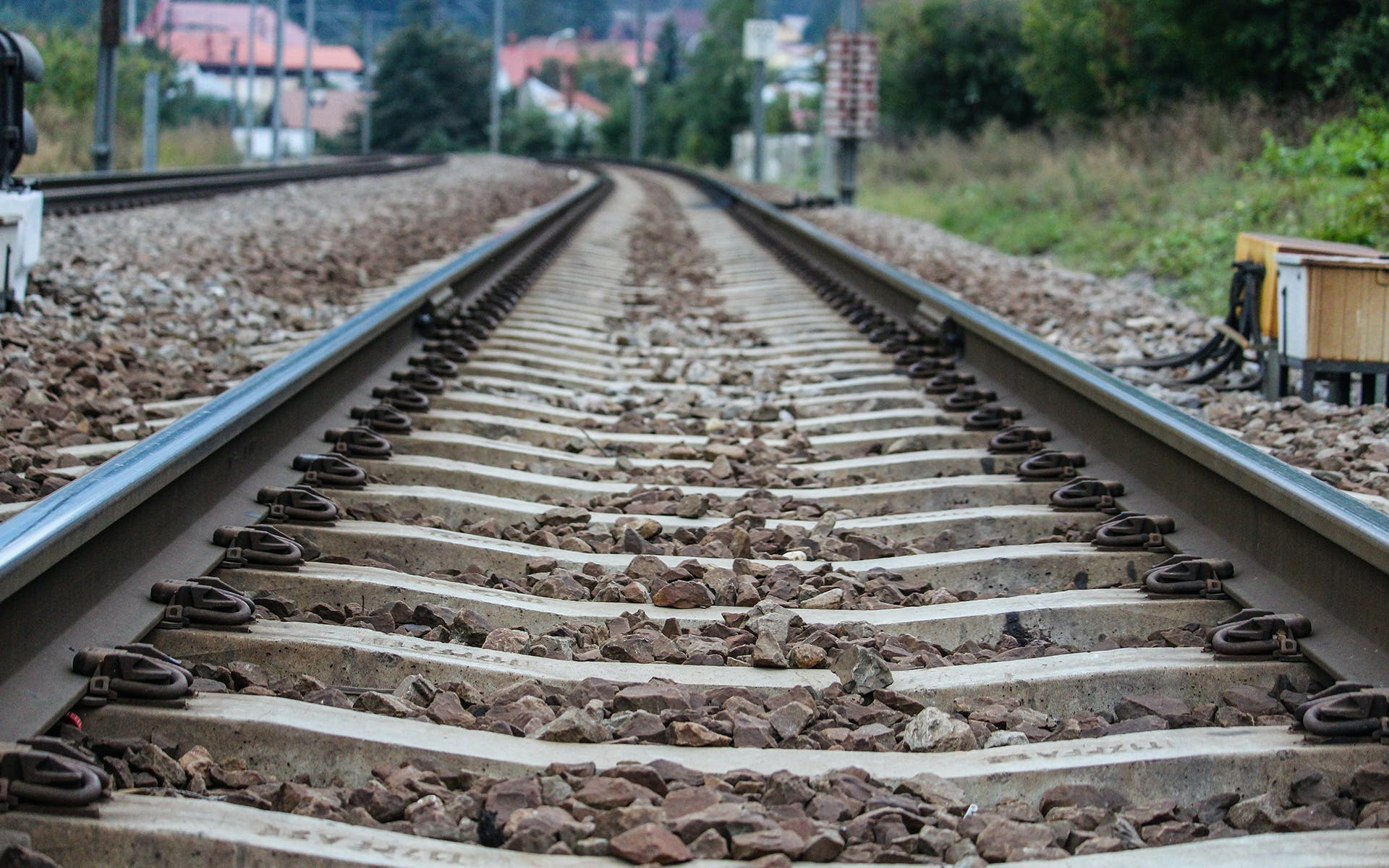 Close-up Photography of Train Rails