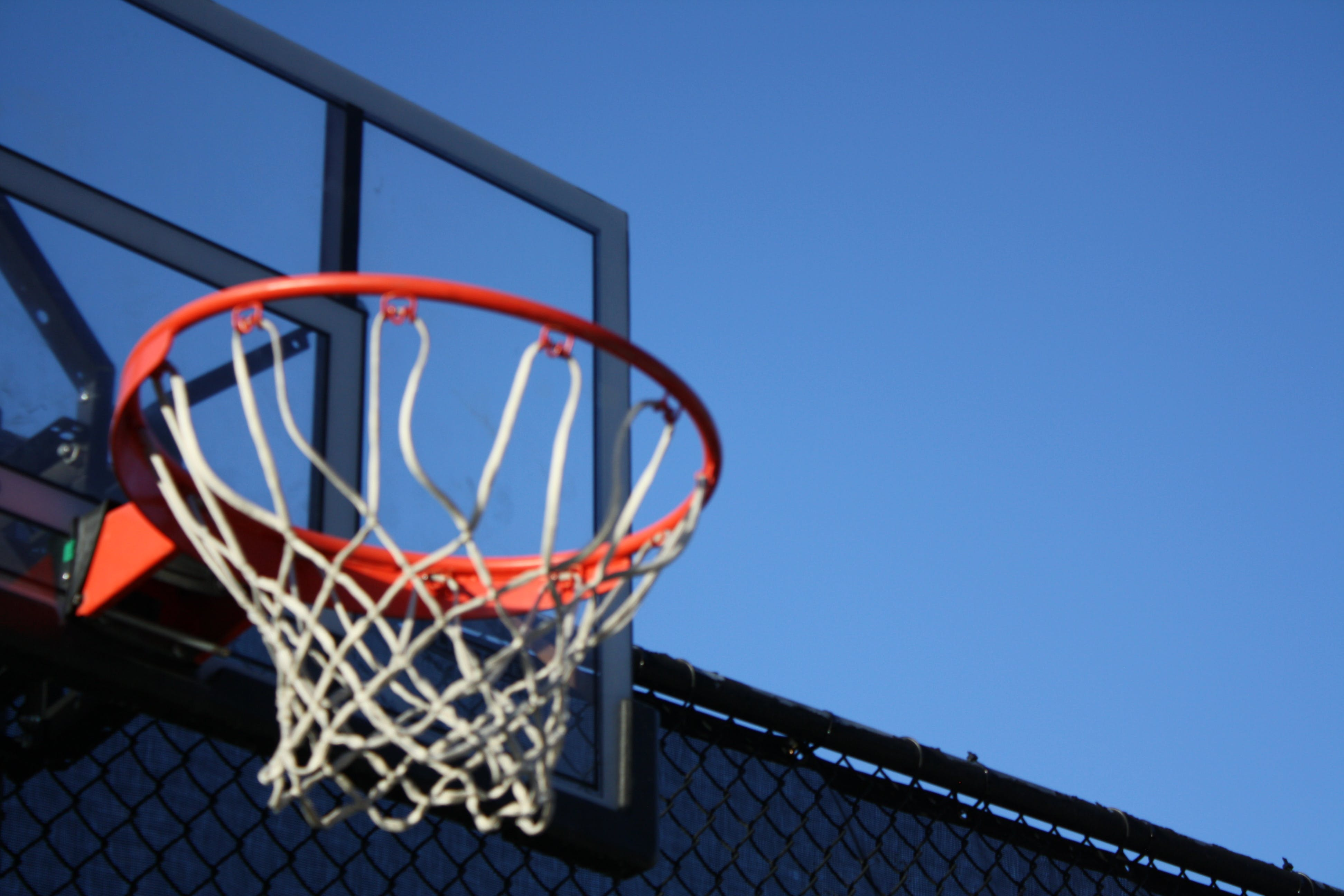 Gray Metal Frame Basketball Hoop System