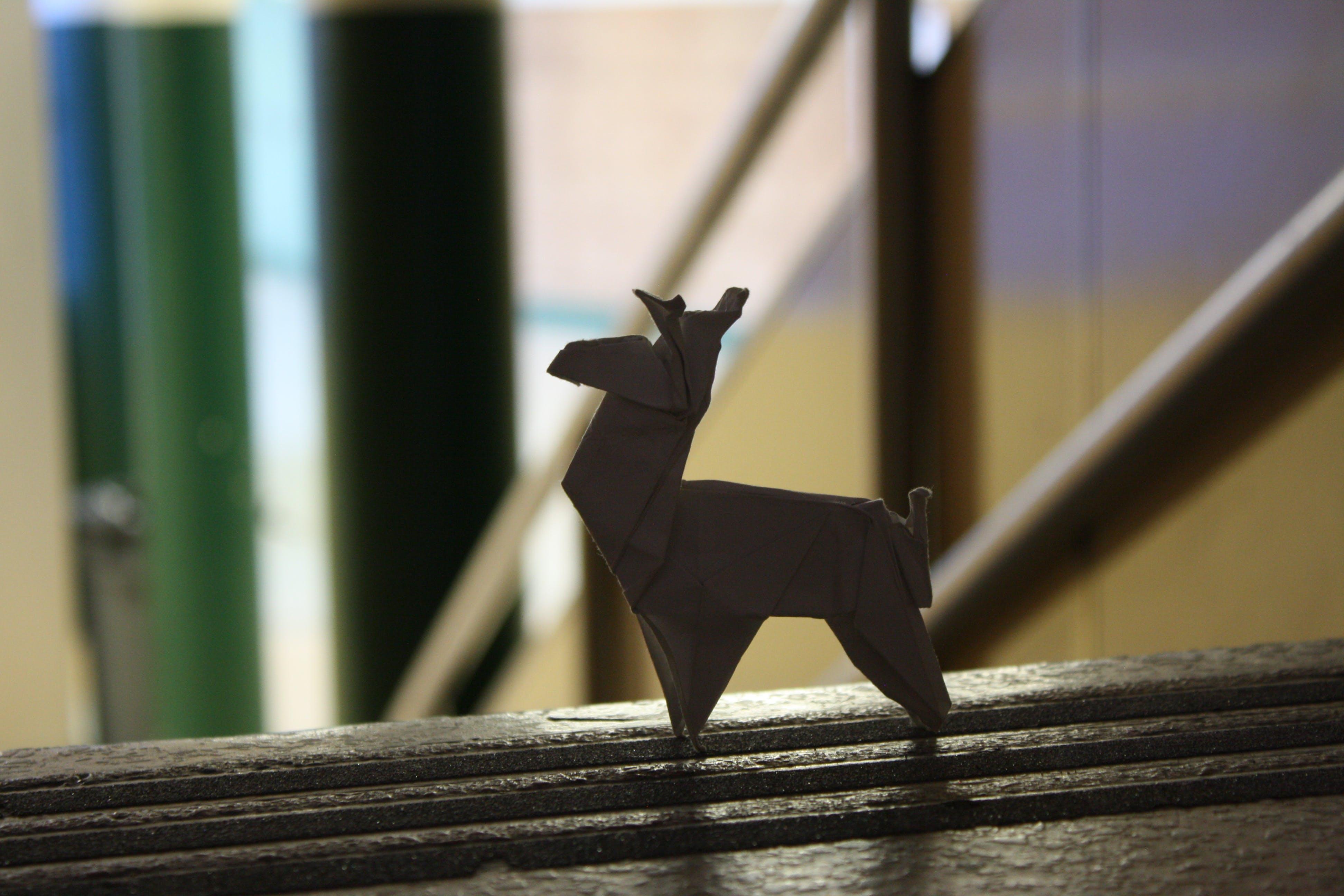 White 4-legged Animal Paper Origami