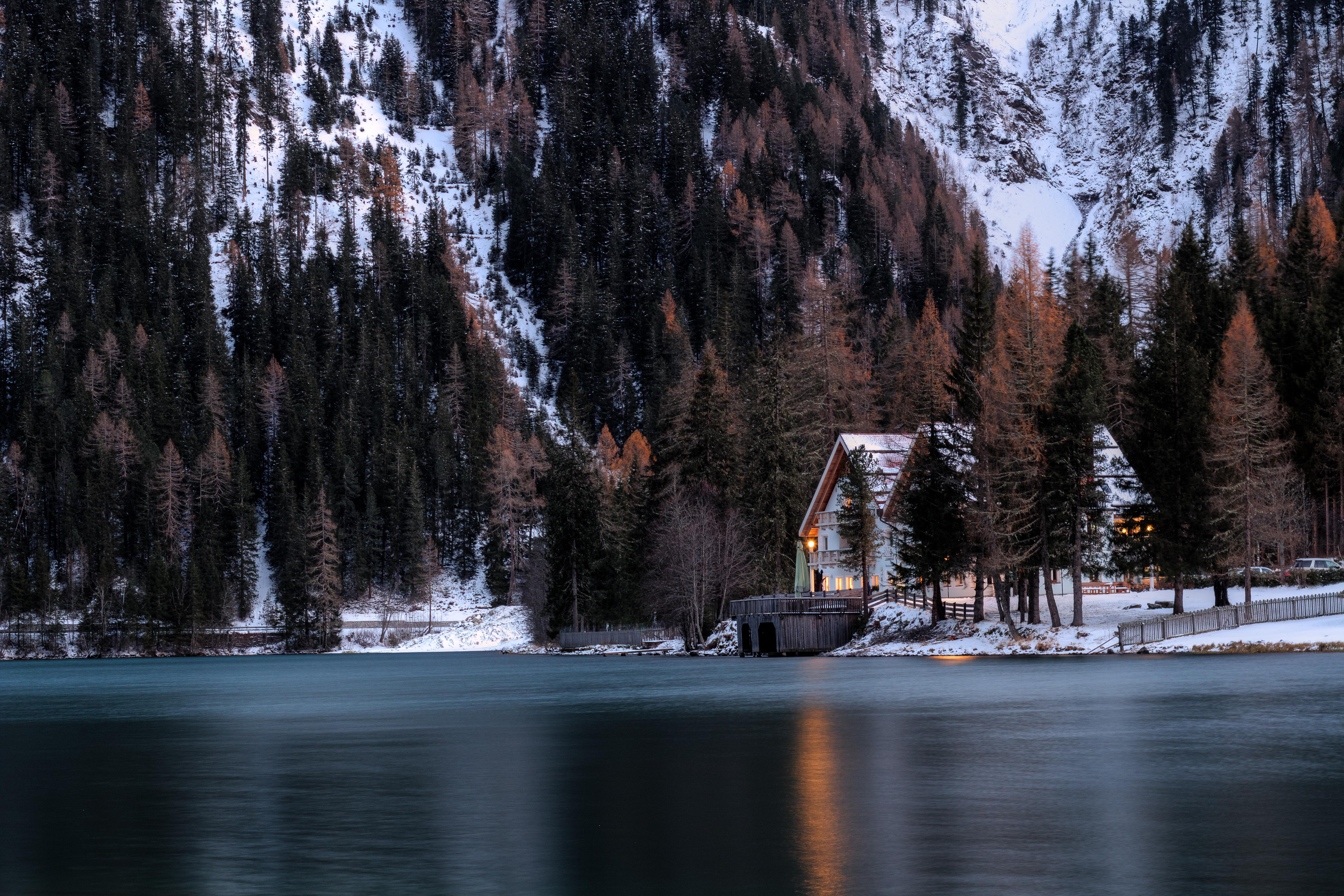 House Near Lake Photo