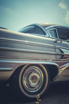 Free stock photo of car, vintage, lines, chrome