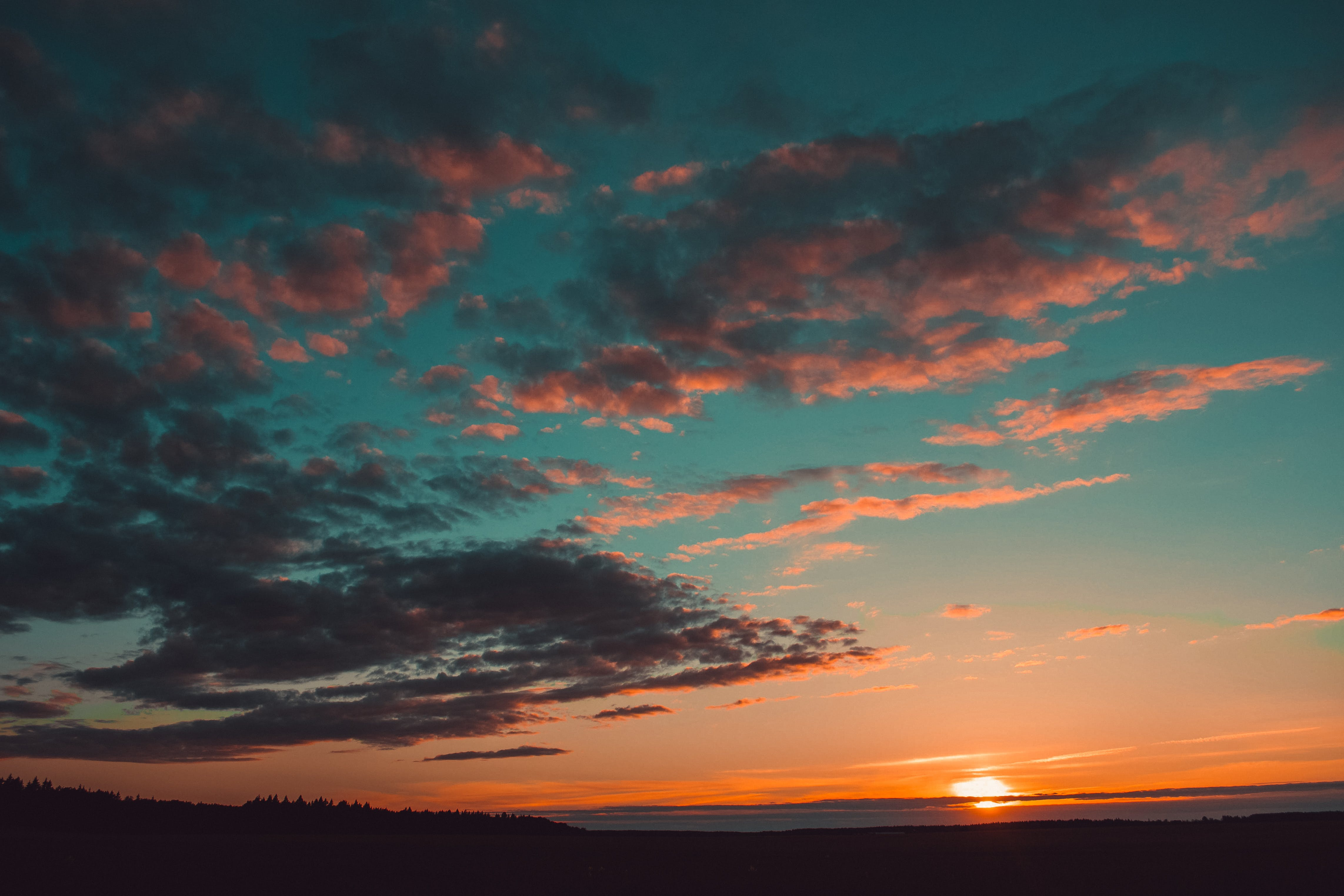 Blue and Orange Skies
