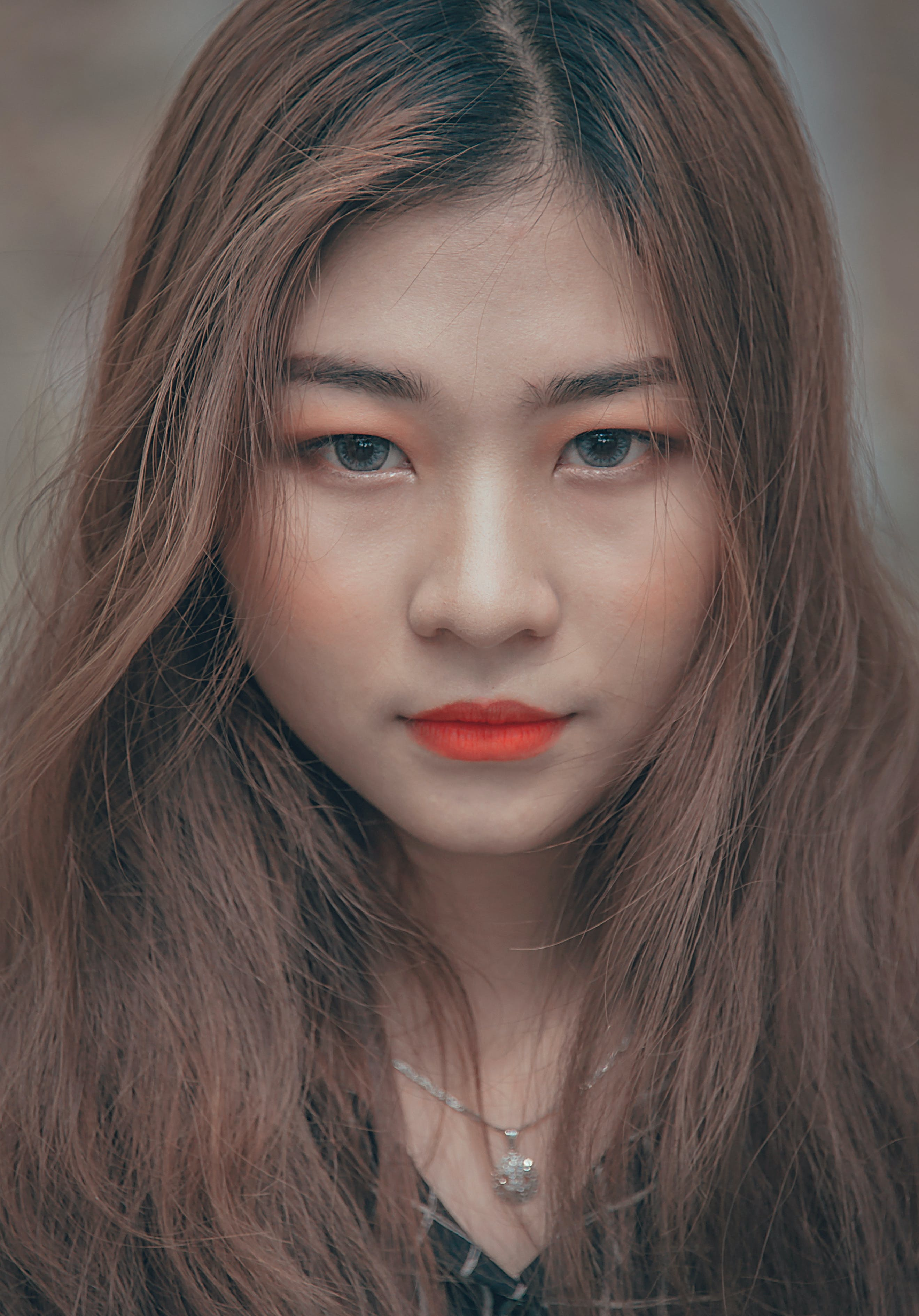 Closeup Photo of Woman in Red Lips