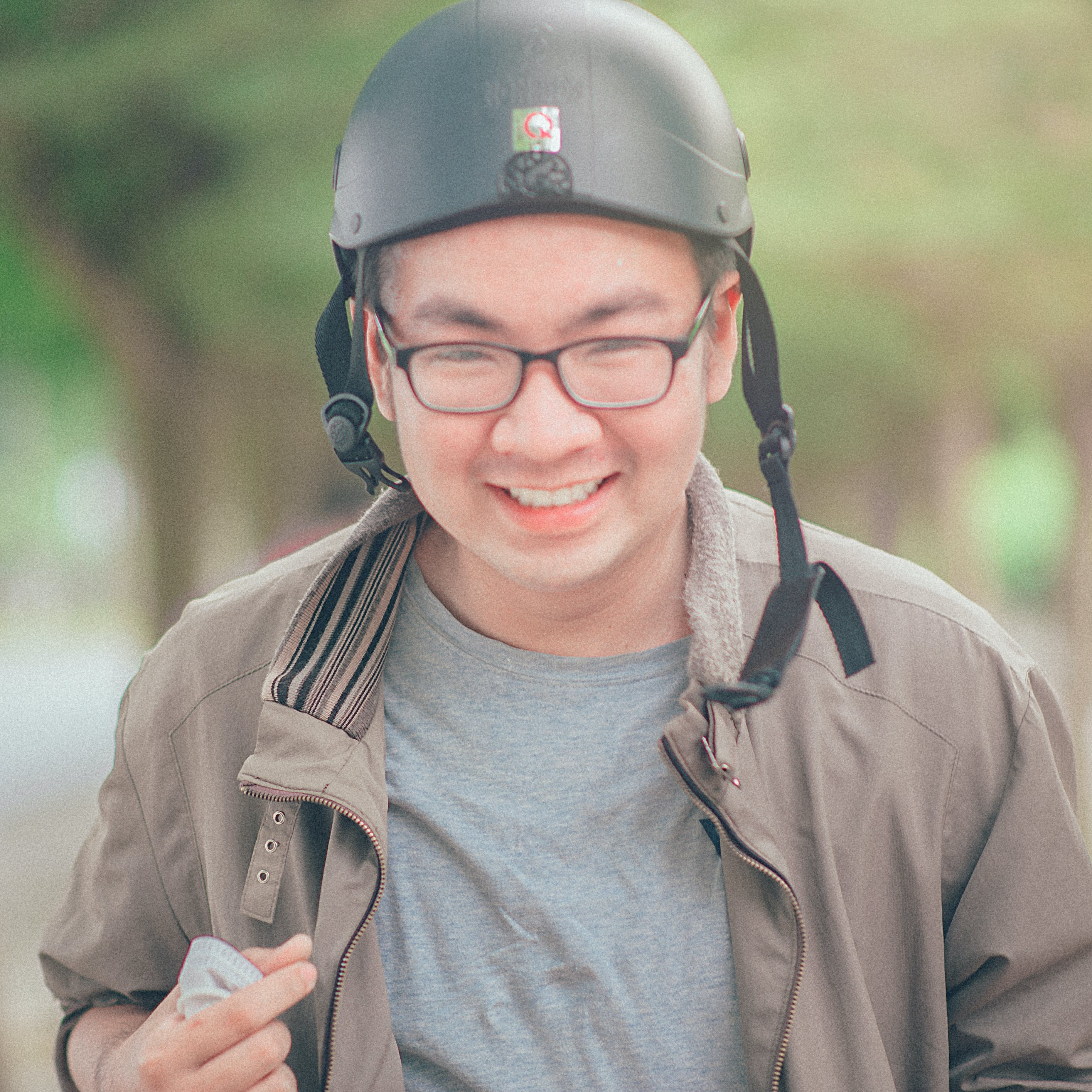 Man Wearing Black Helmet
