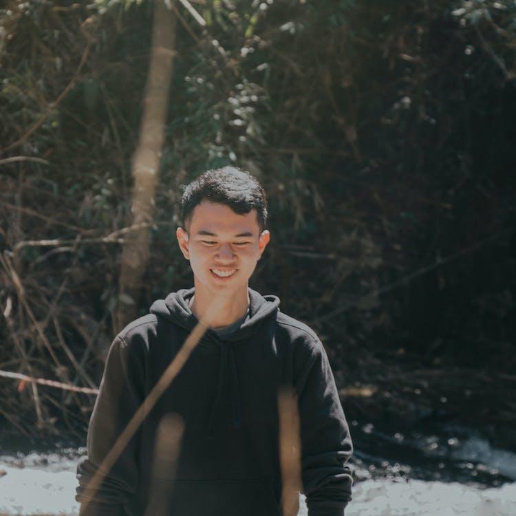 ansigtsudtryk, asiatisk dreng, close-up