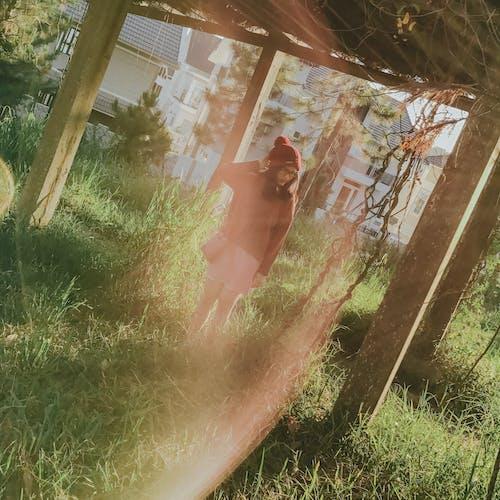 Foto stok gratis cewek, di luar rumah, kacamata, kap mesin