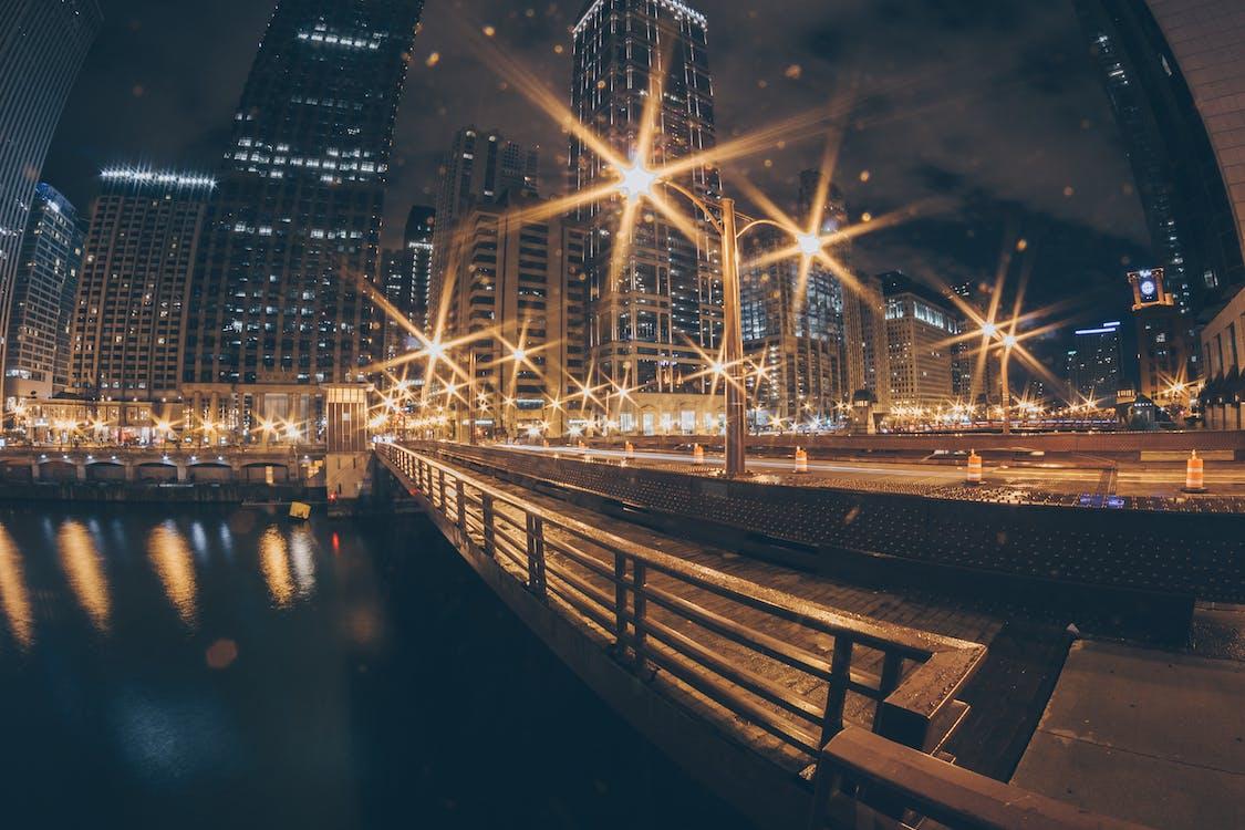 acqua, architettura, centro città