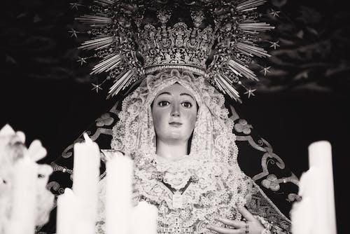 Základová fotografie zdarma na téma černobílá, černobílý, koruna, náboženský
