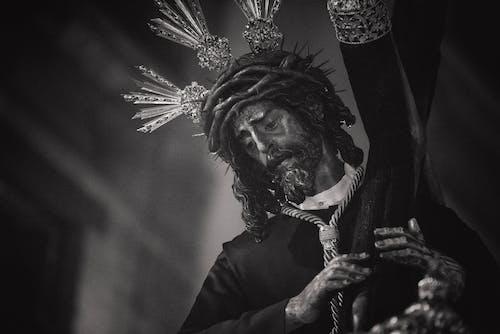 Základová fotografie zdarma na téma černobílá, černobílý, Ježíš, náboženský