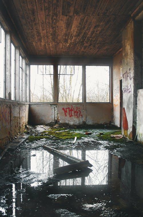 Foto stok gratis air, bangunan terlantar, cairan