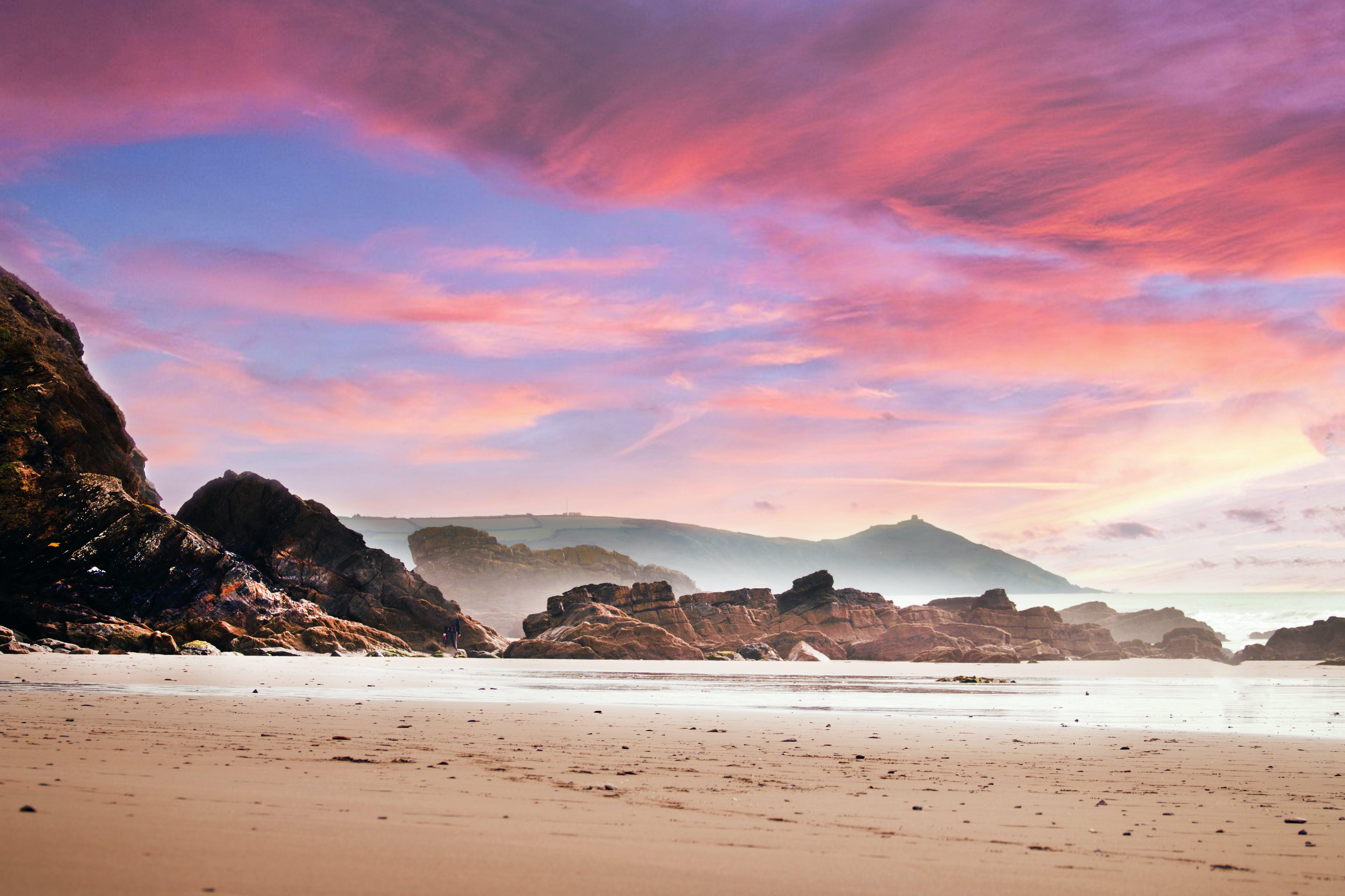 天性, 天空, 岩石, 岸邊 的 免費圖庫相片