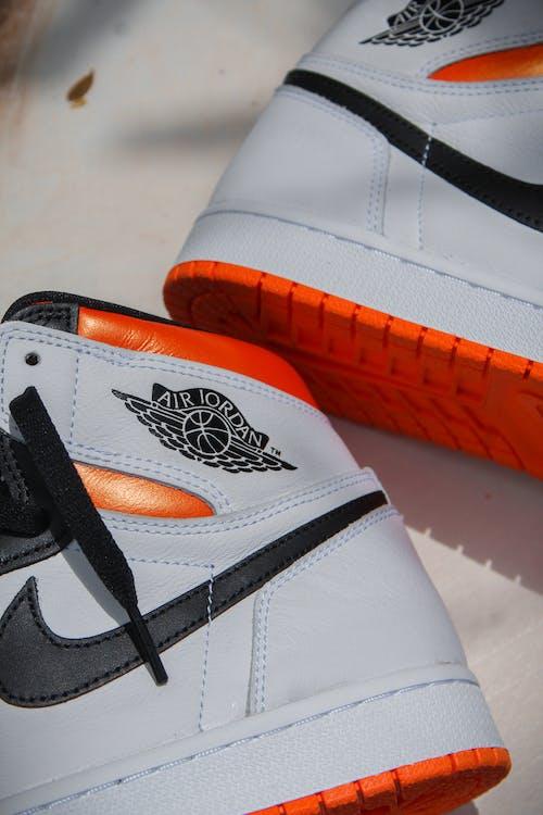 White Orange and Black Nike Air Max