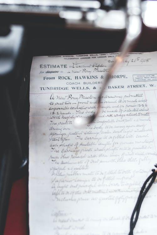 detailný záber, dokument, písanie rukou