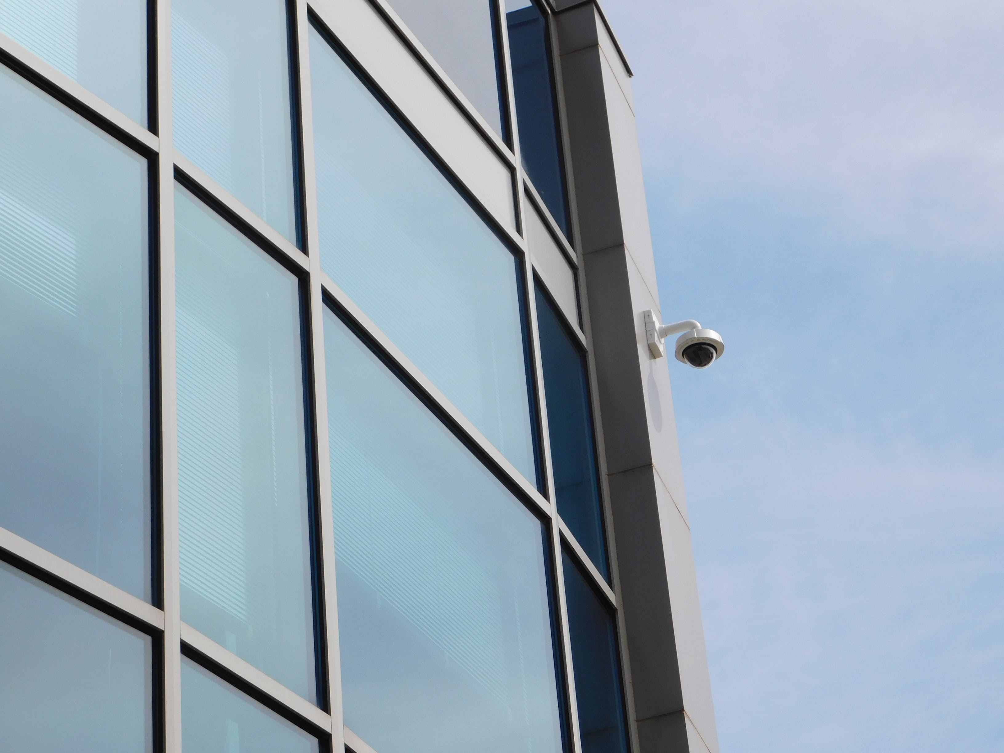 Free stock photo of architecture, camera, glass windows, security camera