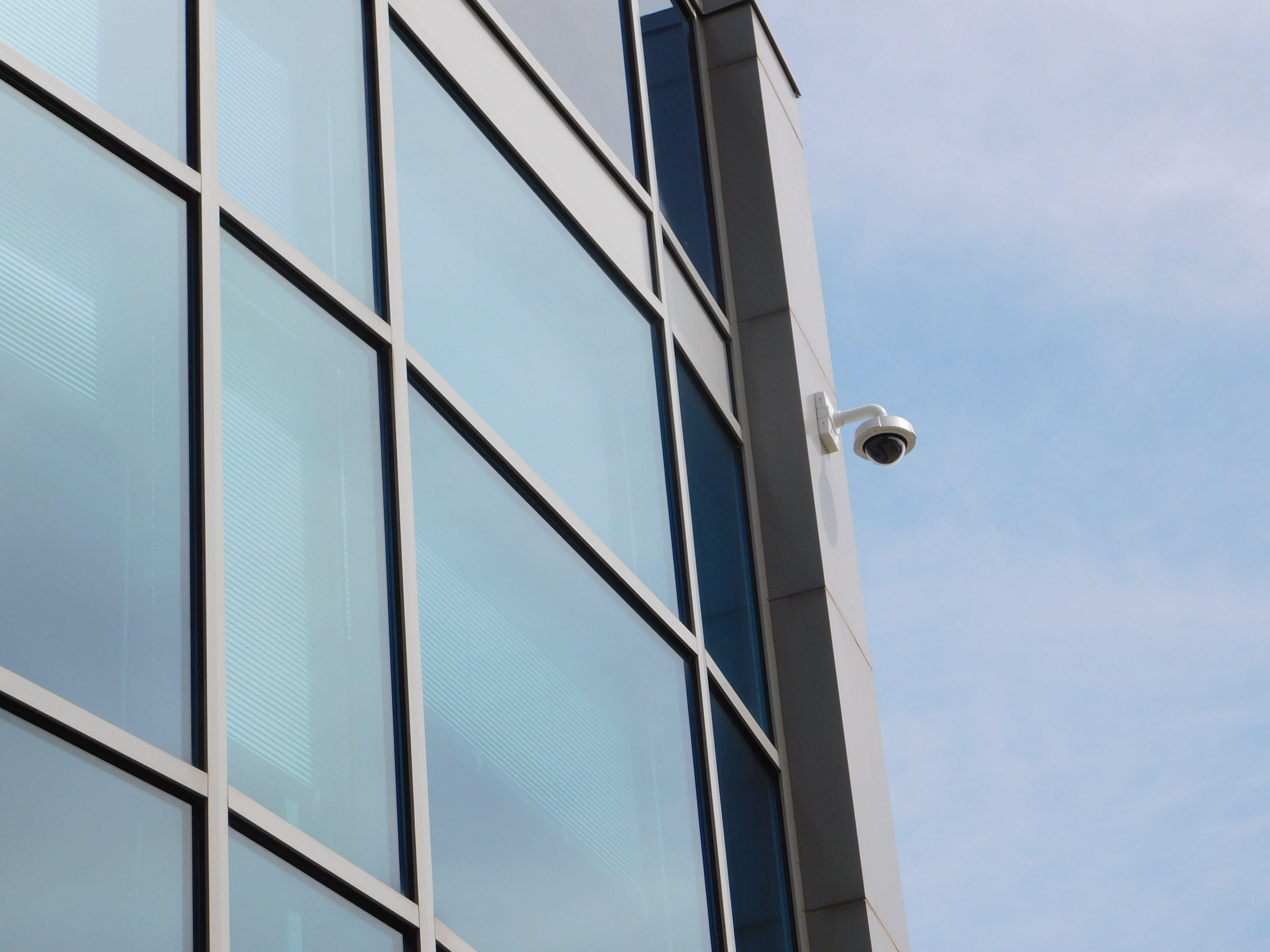 architecture, camera, glass windows