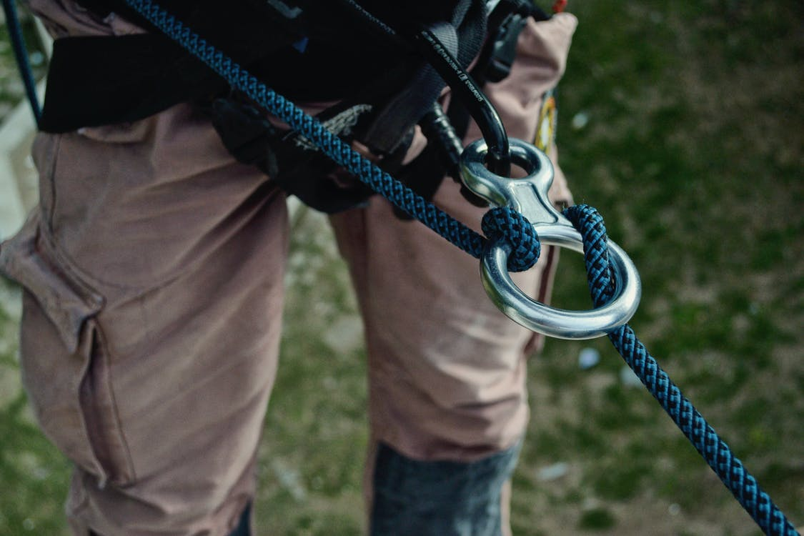Person Showing Blue Rope
