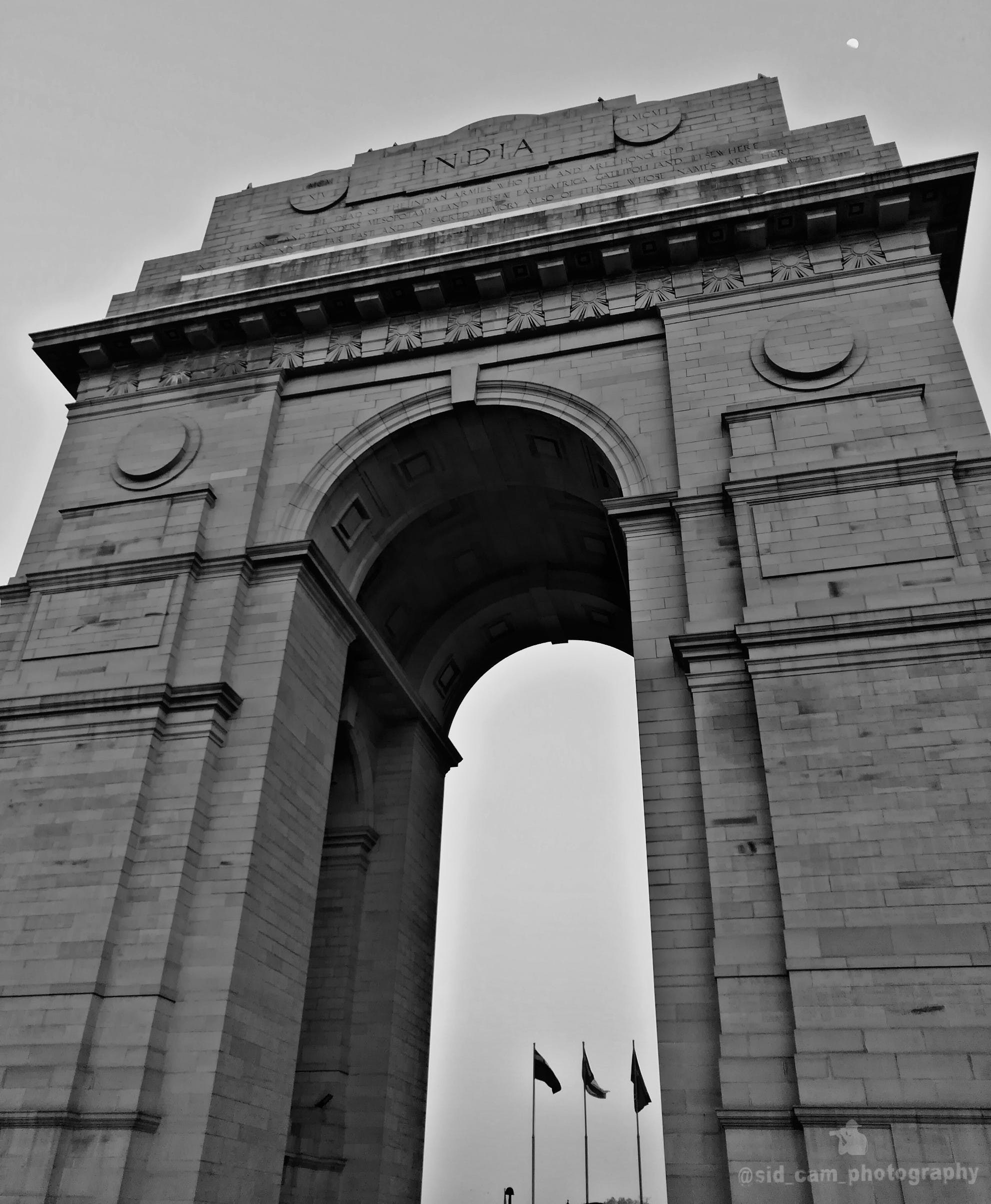 Gray India Arch Under Gray Clouds