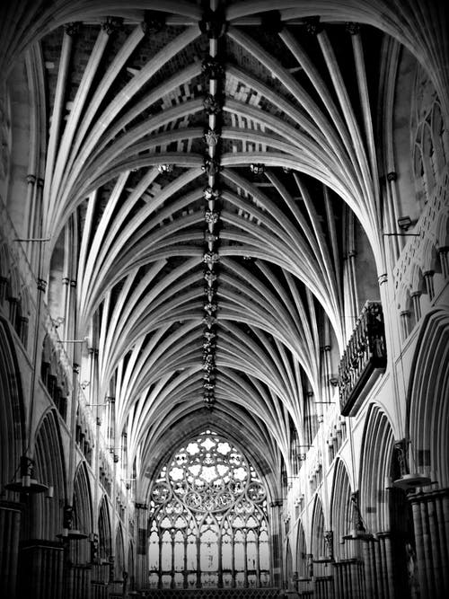 Free stock photo of black-and-white, black&white, cathedral