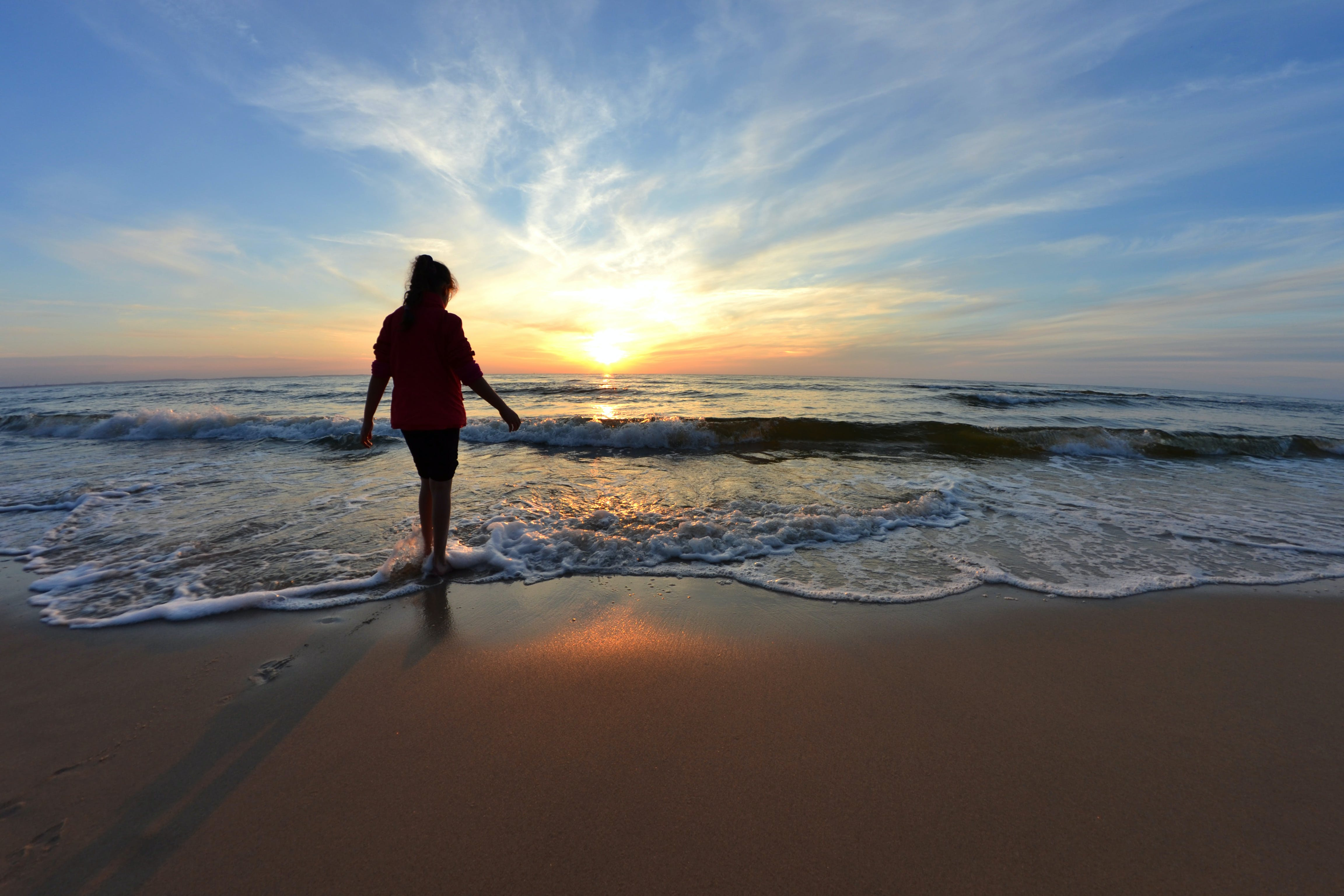 beach, breeze, coast