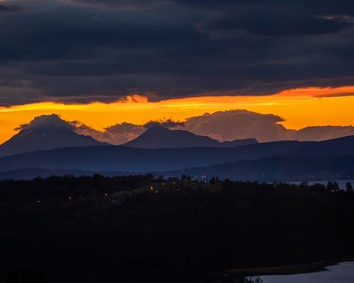 Free stock photo of dramatic sky, golden sunset, good morning