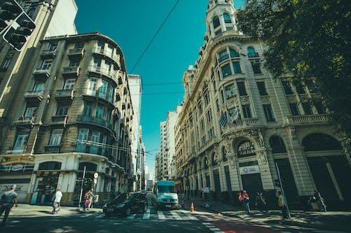 Imagine de stoc gratuită din arhitectură, autoturisme, clădiri, drum