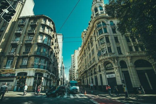 Free stock photo of city, cars, road, people