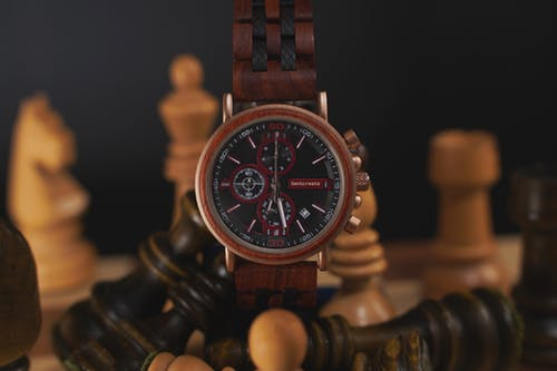 Brown and Black Analog Watch