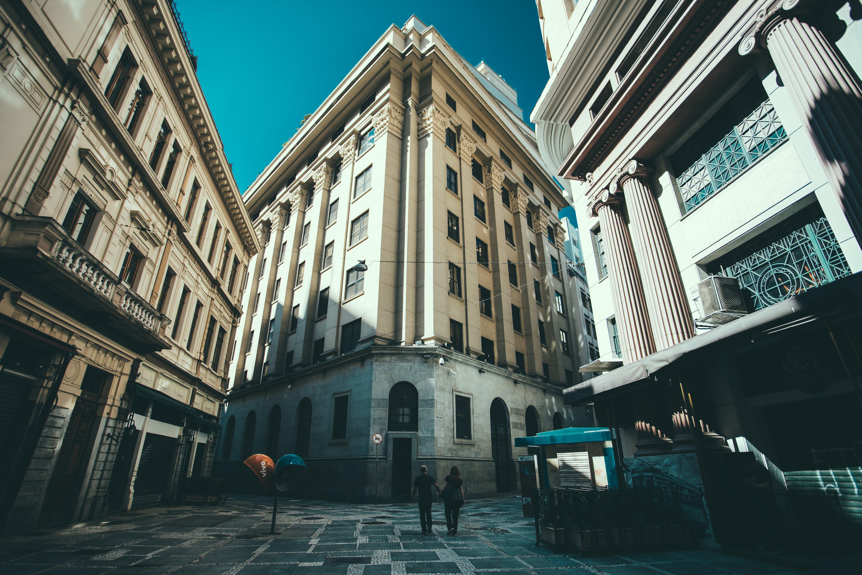 buildings, city, couple