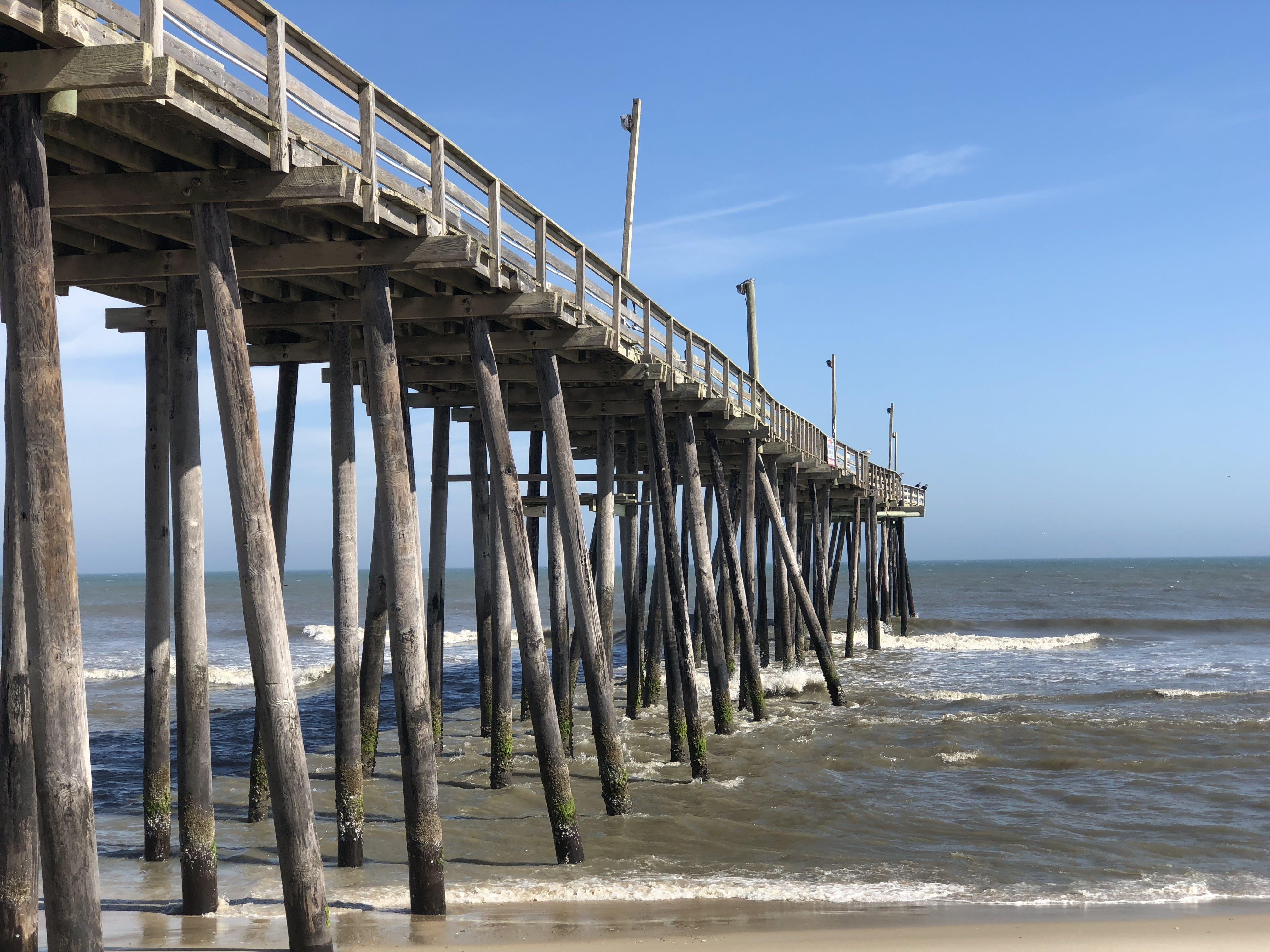 Free stock photo of beach, pier