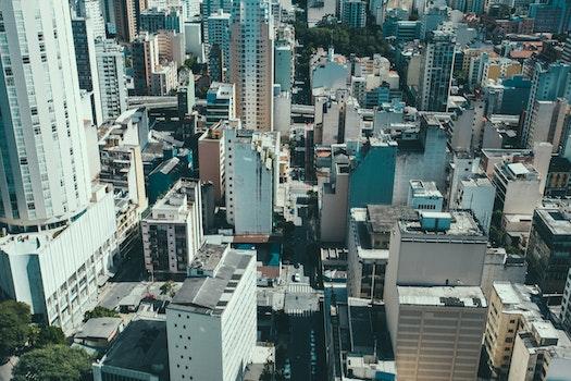 Free stock photo of city, sky, street, skyline