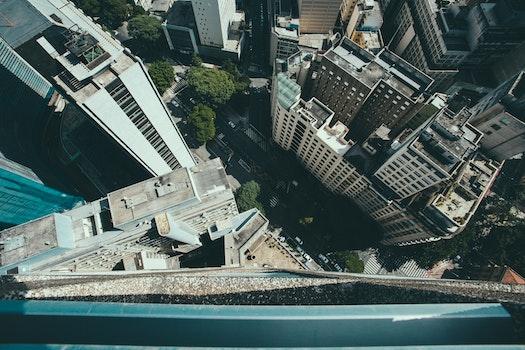 Free stock photo of city, bird's eye view, street, buildings